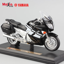 1/18 scale child's mini metal Die casting YAMAHA FJR 1300 racing auto car motorcycle models collection Toys for boys kids black
