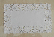 7*12 inch Rectangle White lace Paper Doilies Cake Pad for Christmas party decoration Plast mat Free Shipping(China)