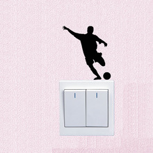 Fashion Creative Football Player Vinyl Switch Wall Sticker 5WS0745