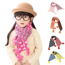 Children Star Scarves Cute Knit Christmas Classical Five Pointed Star Scarf Hot Thickening Knitting Wool Scarves For Kids A2