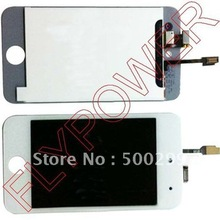 For ipod touch 4 lcd screen with touch digitizer by free DHL, UPS or EMS; 20pcs/lot