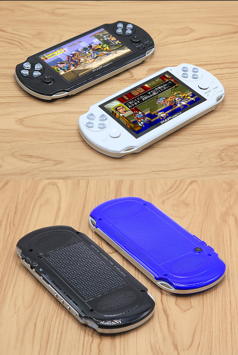 """Hot sale 64Bit Handheld Game Console 4.3"""" Video Game Console  Built-in 650/1300 games for CPS/NEOGEO/SNES/MD/NES/SMS Games Mp5"""