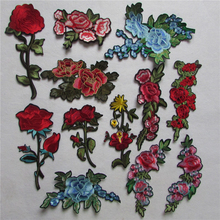 fashion different kind flower patter select hot melt adhesive applique  embroidery patches stripes DIY clothing accessory