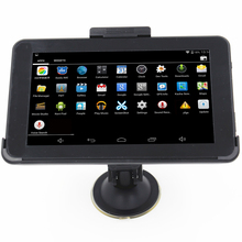 7 inch Capacitive Car GPS Navigation Android 4.4.2 WIFI MT8127 Quad Core 16GB Vehicle truck gps navigator Navitel Europe map(China)