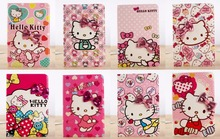 New Lovely Knot Hello Kitty PU Leather Tab For Apple iPad mini Stand Cover Folio Case For Apple iPad mini/2/3 Tablet PC(China)