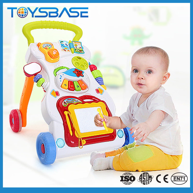 Infant learning walking chair baby wheel walker assistant 7 in 1 toys drawing board telephone piano mirro<br><br>Aliexpress