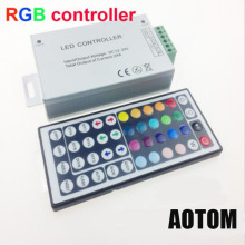 NEW 24A 44 keys IR remote control RGB led controller Plastic+Aluminum DC 12V-24V for 5050 / 3528 led strip(China)