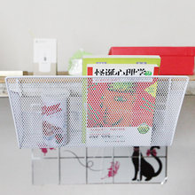 Butihome Bedside Multi-Purpose Storage Basket Notebook Books Shelves Iron Bedroom Dormitory Debris Collection Rack Hooked Shelf(China)