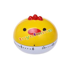 New 60 Minutes Funny Cute chicken Kitchen Egg Timer Alarm Clock 360 Degree Vegetables Cooking Mechanical Dial Home Decor(China)