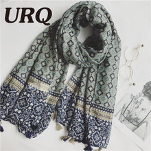 1PCS Tassels Scarf for Woman print bohemia Chinese style Flower Tassels Shawls hijab Sping and summer Women Long  2017 new brand