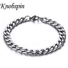 Best Christmas Gifts Punk style mens jewelry stainless steel bracelets & bangles fashion male hand chain accessories Wholesale