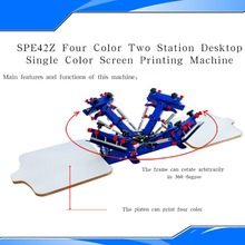 New Design 2015 Four Color and Two Station Screen Printing Equipment Silk Screening Press DIY Screen Printing Press(China)