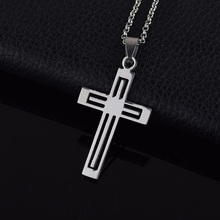 2017 Fashion Natural Symbol CROSS Stainless Steel Necklace Men Jewelry Nice Charms Pendant Necklace Coopper Chain Jewelry Women