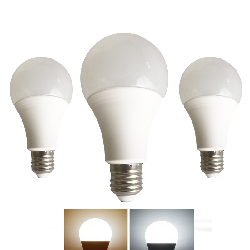 E27 LED Light Bulb High Brightness 220V 110V 3W 5W 7W 9W 12W 15W 18W LED Bulb Real Power lamparas led Cold Warm White