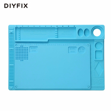 DIYFIX 2 in 1 Multi-function Silicone Mat Table Pad Maintenance Platform BGA Soldering Repair Work Station