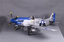 FMS RC Airplane 1450MM / 1.4M P51 P-51D Mustang Petie 2nd Blue Newest V8 PNP Big Scale Gaint Warbird Model Plane Aircraft(China)