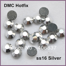 Free Shipping! 1440pcs/Lot, ss16 (3.8-4.0mm) High Quality DMC Silver Plated Iron On Rhinestones / Hot fix Rhinestones(China)