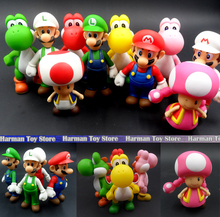 13cm characters Super Mario Bros Luigi Mario Action Figure set PVC Super Mario Figure Model Doll Best Chirstmas Gift Kid toys(China)