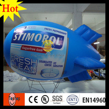 5m 16ft  blue inflatable balloon helium blimp self inflating helium balloon for advertising toys sale 0.2mm PVC tarpaulin toys