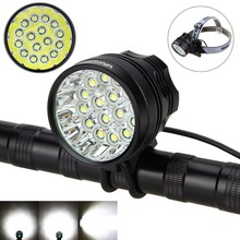 Super Strong 20000 Lumens 16x XM-L T6 LED Bicycle Lamp Front Headlight Bike Light Torch+Battery Pack + Charger +Tail Llight