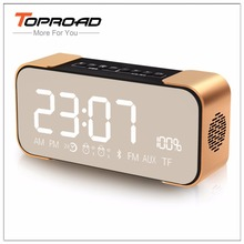 Portable Bluetooth Speaker PTH-305 Wireless Stereo Music Sound Box Support FM Radio Line in TF Time/Alarm Clock altavoz Speakers