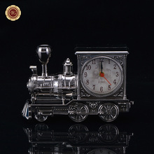 Desktop Decoration Metal Thomas Train Car Clock and Locomotives