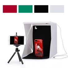 NEW Mini Folding Studio Light Box with LED Foldable Portable Photo Lighting Studio 4 Colors Background Shooting Tent Box Kit HOT