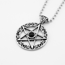 Charm Stainless Steel Pentacle Pentagram Star Pendant Necklace Chain Jewelry
