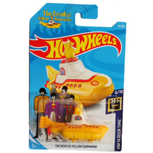 New Arrivals 2018 8b Hot Wheels 1:64 the beatles yellow submarine Car Models Collection Kids Toys Vehicle For Children(China)