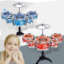 New Simulation Kids Drums Toys Lovely Baby Music Toys Infant Playing Type Toys Shelf Drum toy 2351
