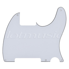 Electric Guitar Pickguard Scratch Plate 3Ply Black White For TL Style Parts Replacement 5 Hole