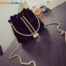 High quality women bag bolsa feminina Women Fashion Solid Handbag Drawstring Shoulder Bag Tote Ladies Purse 170321