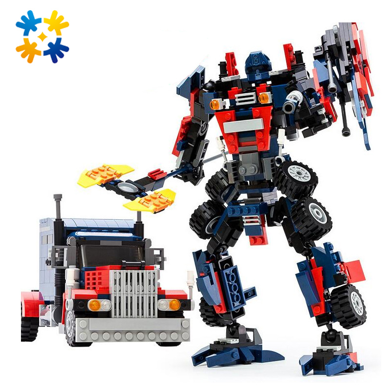 WMX 8713 377pcs  Series Truck Model Building Blocks DIY Sets Toys Robot 2 In 1 Wolf DIY Educational Toy<br><br>Aliexpress