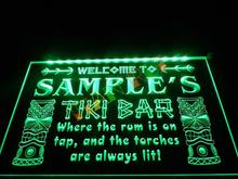 DZ014- Name Personalized Custom Tiki Bar Beer LED Neon Light Sign hang sign home decor shop crafts(China)