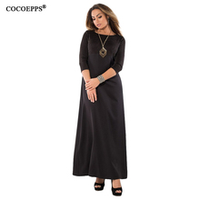 Buy COCOEPPS 5XL 6XL 2018 Patchwork Elegant Long Dress Bandage Big Size Maxi Women Dress Winter Office Ladies Dress Blue Red Black for $18.98 in AliExpress store