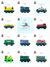 Thomas and His Friends -NO.58-93 Wooden Magnetic Trains Model Christmas Toys Gifts for Kids Bill Victor Harold Lorry Salty(China)