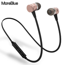MoreBlue M98 Wireless Bluetooth Earphones Sport Running Headphones Metal Magnetic Headset Stereo Bass Earbuds Handsfree With Mic