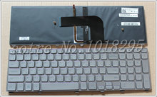 NEW for Dell Inspiron 17 7000 7737 Laptop Keyboard Backlit SILVER Russian/RU Teclado 0XVK13 NSK-LH0BW 9Z.NAVBW.00R