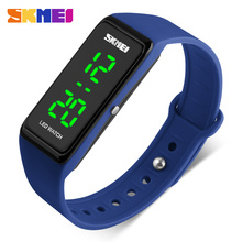 SKMEI Fashion Digital Women Watch Waterproof LED Display Sport Watches Silicone Strap Ladies Outdoor Wristwatches Relojes1265(China)