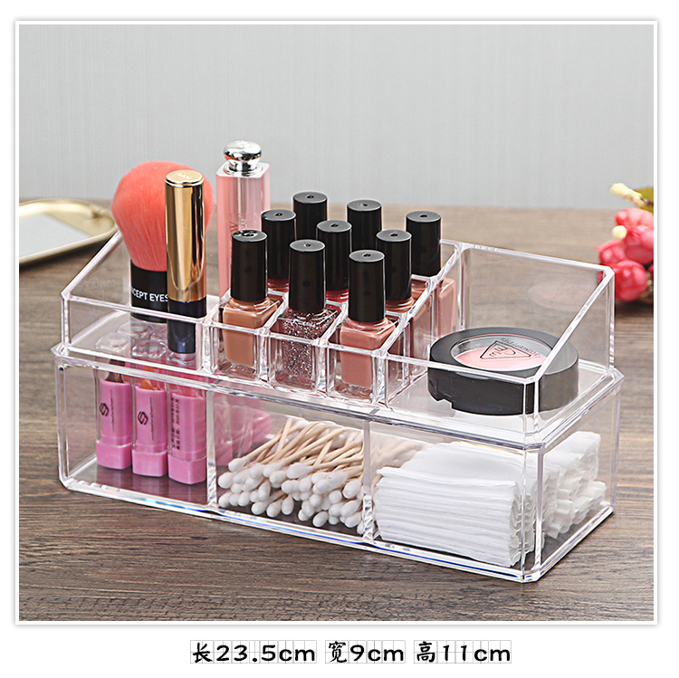 Organizador Hot Sale 2017 Acrylic Makeup Organizer Rangement Maquillage Crystal of Cosmetics Included In The of Home Storage (16)