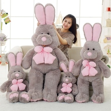 1pcs 80cm Cute American Big Rabbit Stuffed Dolls Plush Toy America Rabbit Animal With Long Ears Toys For Children(China)