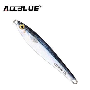 ALLBLUE Metal Jigging Spoon 35g 3D Print Laser Artificial Bait Boat Fishing Jig Lures Super Hard Lead Fish Fishing Lures