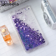 AKABEILA Glitter Liquid Cases Covers For Xiaomi Mi Max 2 Xiaomi Mi Max2 6.44 inch Soft TPU Phone Case Dynamic Sand Back Cover
