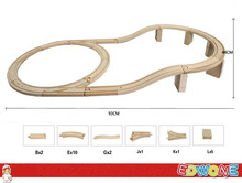 Thomas and Friends --1Set 21PCS Viaduct Thomas Train Wooden Track Railway Loops Bridge Track  For Thomas Biro Train