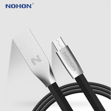 NOHON Micro USB Cable Noodle Fast Charger Cable For Samsung Xiaomi Lenovo LG Nokia Sony Android Mobile Phone Data Sync Cable(China)