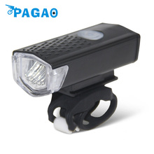 PAGAO 300LM Rechargeable USB LED Bicycle Bike Flashlight Lamp MTB Front Bicycle Cycling Light Headlight  0201