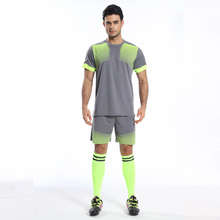 Soccer Jersey Set training football jersey 2016 2017 Kits Youth Boys Futbol Breathable jerseys Tracksuits maillot de foot custom(China)