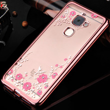 Leeco Le S3 Case X626 X622 Silicon Flower Bling Diamond Soft TPU Back Cover For Letv Leeco Le 2 Case X527 / Le2 Pro X620 X520(China)