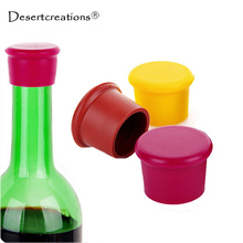 New Kitchen Multicolor Silicone Button Beer Wine Cork Stopper Plug Bottle Cap Cover Perfect Home Kitchen Bar Tools(China)