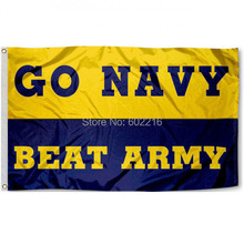 Navy beat Army College Large Outdoor Flag 3ft x 5ft Football Hockey College USA Flag(China)